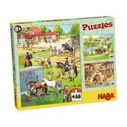 Puzzles Le centre équestre Haba - boîte
