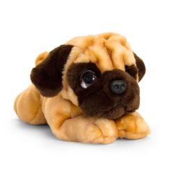 Peluche chien carlin 32 cm