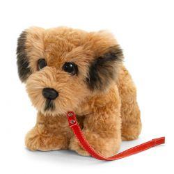 Peluche Terrier irlandais avec laisse 30 cm