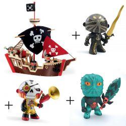 Pack bateau pirate Djeco avec 3 figurines fantastiques
