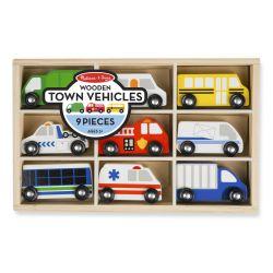 Set de véhicules en bois de la ville