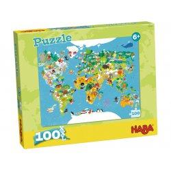 Puzzle Carte du Monde Haba - Boîte