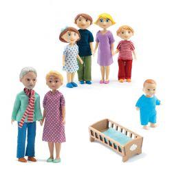 Petit Pack famille de poupées Djeco Gaspard & Romy