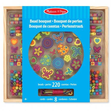 perles à enfiler - bouquet de perles (220 pièces) - Melissa et Doug