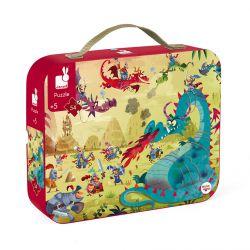 puzzle dragons 5 ans 54 pièces - valisette