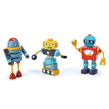 Jeu de construction de robots