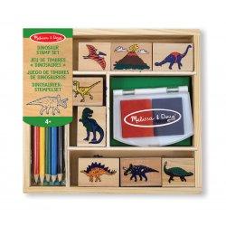 Coffret tampons encreurs dinosaure
