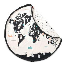 Sac rangement de jouets - Carte du Monde - Play and Go