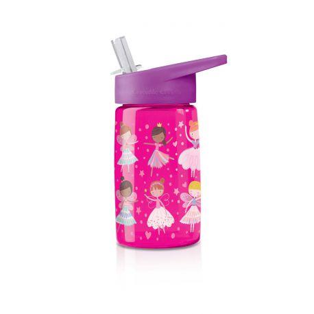 Gourde Fées avec paille sans BPA