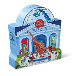 Puzzle Un jour au musée - Dinosaures - 48 pièces - coffret silhouette
