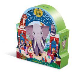 Puzzle Une journée au zoo - 48 pièces - coffret silhouette