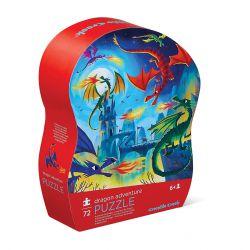 Puzzle Aventure de dragon - 72 pièces - coffret silhouette