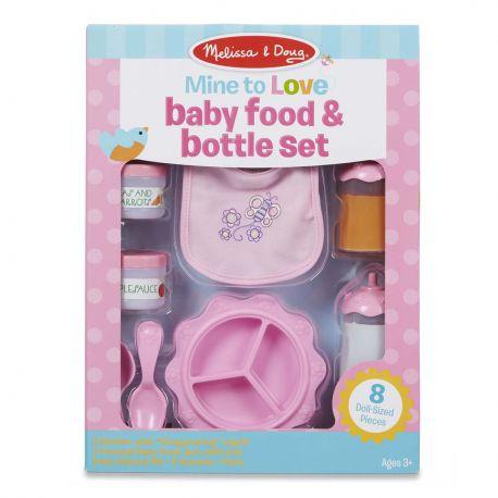 Ensemble de biberons et aliments pour bébé