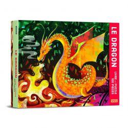 Le dragon - Livre et puzzle 100 pièces - coffret