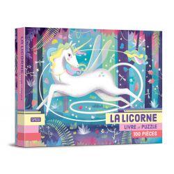 La licorne - Livre et puzzle 100 pièces