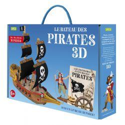 Construis le bateau des pirates en 3D - Livre et maquette
