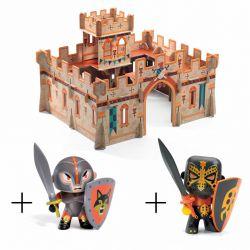 Pack chateau médieval Djeco et 2 figurines