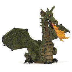 Dragon ailé vert avec flamme - Papo