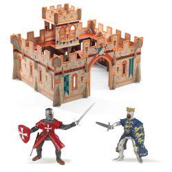 Pack château médiéval Djeco + figurines Papo