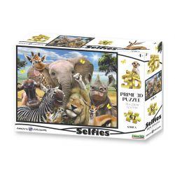 Selfie africain - Puzzle hologramme 3D - 63 pièces