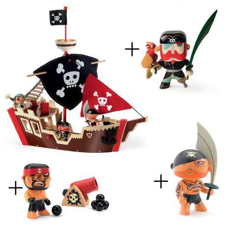 Petit Pack bateau pirate Djeco avec figurines