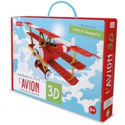 Construis l'avion 3D + Histoire de l'aviation - Livre + maquette