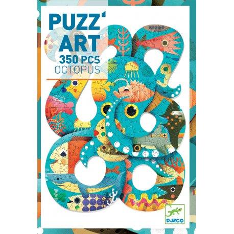 Octopus - Puzz'art Djeco 350 pièces - Coffret