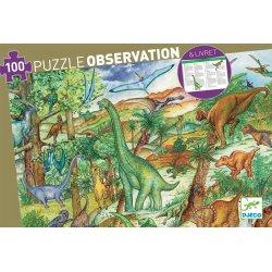 Puzzle Dinosaures Djeco 100 pièces - Boîte