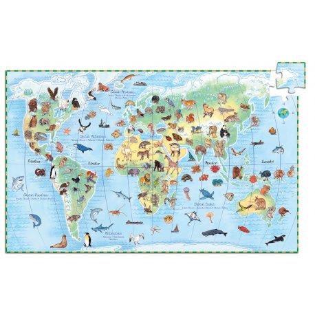 Puzzle Animaux du monde Djeco 100 pièces