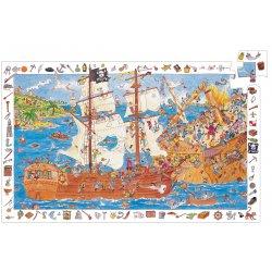 Puzzle d'observation Les pirates Djeco 100 pièces