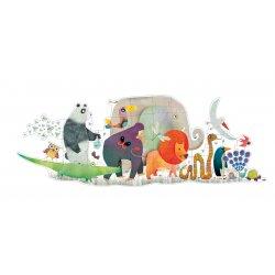 Image Puzzle géant La parade des Animaux 36 pièces