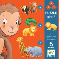 6 Puzzles Ouistiti et ses amis Djeco - Boîte