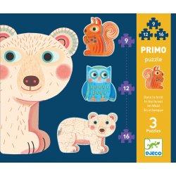Puzzles primo Dans la forêt Djeco de 9 à 16 pièces