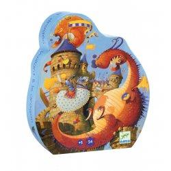 Puzzle Vaillant et les dragons Djeco - Boîte silhouette