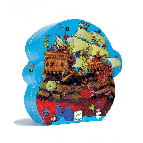 Puzzle Le bateau de Barberousse Djeco - Boîte silhouette