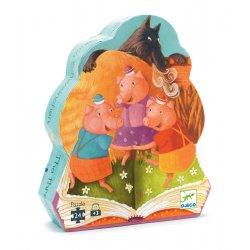 Puzzle Les trois Petits cochons Djeco - Boîte silhouette