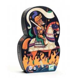 Puzzle Don Quichotte Djeco - Boîte silhouette