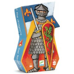 Puzzle Le chevalier au dragon Djeco - Boîte silhouette