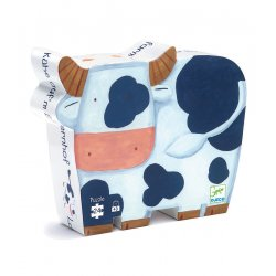 Puzzle Les vaches à la ferme Djeco - Boîte silhouette