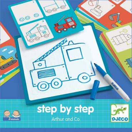 Arthur and co - Step by step Djeco - Pochette