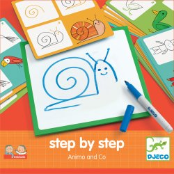 Animals and co Step by step - Djeco - Pochette
