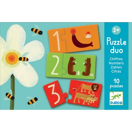 Puzzle duo chiffres Djeco