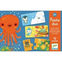 Puzzle duo cache-cache Djeco
