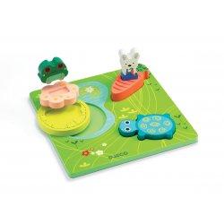 1, 2, 3 Froggy - puzzle à encastrement Djeco