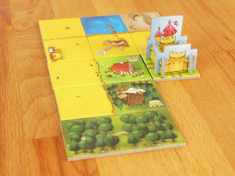 Kingdomino assemblage des dominos pour créer le royaume