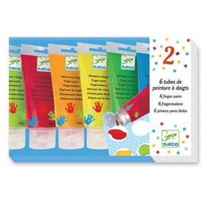 tubes de peinture à doigts
